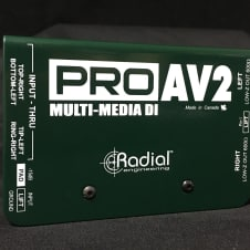 Radial Engineering Pro AV2 2-Channel Passive A/V Stereo DI Box