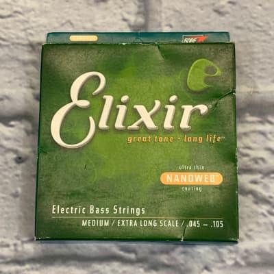 Elixir Nanoweb Medium Extra Long Scale 45-105 Bass Strings