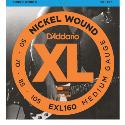 D'Addario EXL160 Nickel Wound Medium Bass Strings 50-105