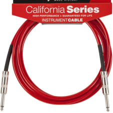 Fender California Instrument Cable, 10', Candy Apple Red