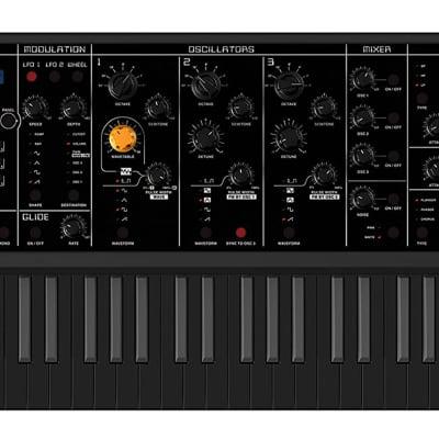 Studiologic SLEDGE 2 BLACK Edition Synthesizer with 61-Key Semi-Weighted Keyboard