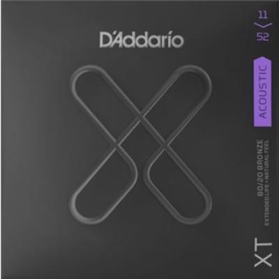 D'Addario XTABR1152 XT 80/20 Custom Light Acoustic Strings .011-.052