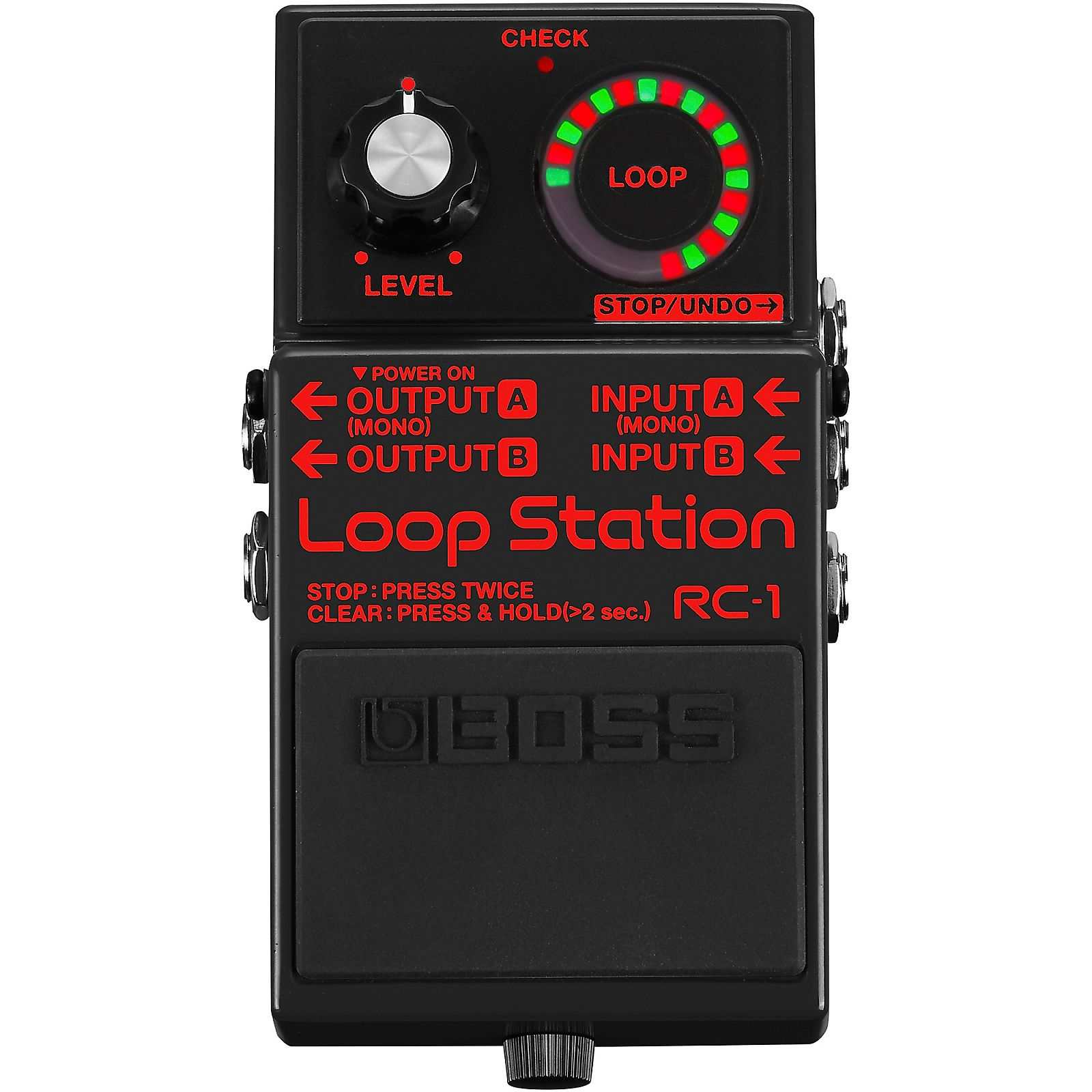 boss rc 1 bk loop station reverb. Black Bedroom Furniture Sets. Home Design Ideas