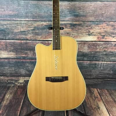 Boulder Creek Left Handed ECR4NS Acoustic Electric Guitar - Guitar Only for sale
