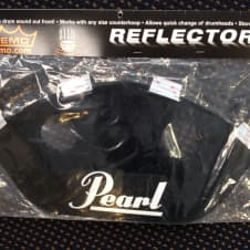 Remo RF-1714-PL Black Marching Snare Sound Projector Scoop w/Pearl Logo image
