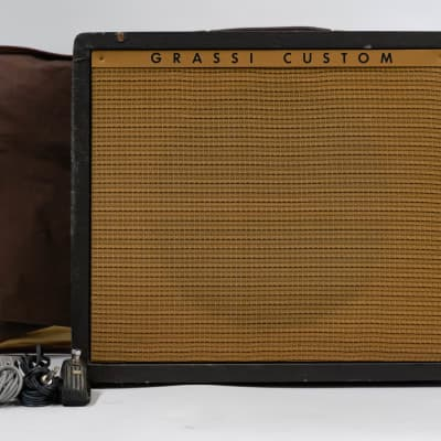 Grassi Custom U72 Vintage 1 x 12 Guitar Combo Amplifier w/ Cover and Footswitch for sale