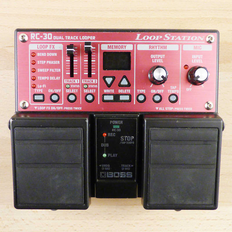 boss rc 30 stereo loop station twin pedal guitar or vocal reverb. Black Bedroom Furniture Sets. Home Design Ideas