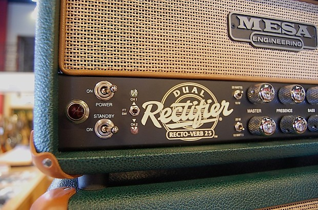 mesa boogie rectoverb 25 with matching cabinet custom reverb. Black Bedroom Furniture Sets. Home Design Ideas