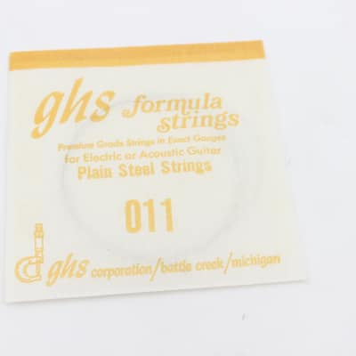 GHS Vintage Formula Strings - Battle Creek, Michigan - For Display / Collectible