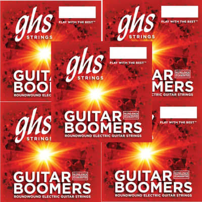 GHS Boomers Guitar Strings 5-Pack Roundwound Electric Extra Light 09-42