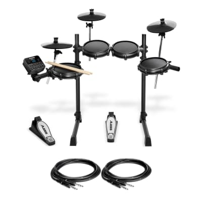 Alesis Turbo Mesh Kit Bundle with 2 Hosa TRS Cables