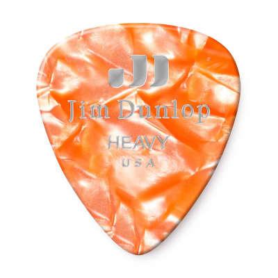 Dunlop 483R08HV Celluloid Standard Classics Heavy Guitar Picks (72-Pack)