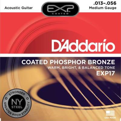 D'Addario EXP17 COATED Phosphor Bronze Acoustic Guitar Strings - Medium