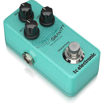 TC Electronic HyperGravity Compressor Exceptional Multiband Pedal w/ Built-In TonePrints & Video