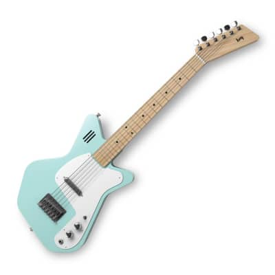 Loog Guitars Pro VI Electric Green w/ built in amp for sale