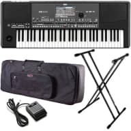 Korg Pa600QT Quarter Tone Arranger Keyboard STAGE ESSENTIALS BUNDLE