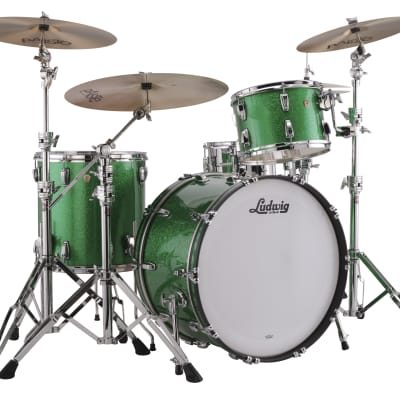 Ludwig Classic Maple Green Sparkle Pro Beat 14x24_9x13_16x16 Drums Special Order/Authorized Dealer