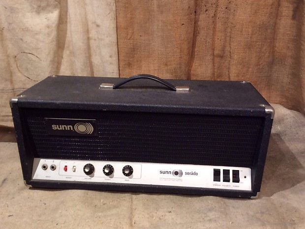 sunn sorado amplifier head vintage circa 1970 39 s electric reverb. Black Bedroom Furniture Sets. Home Design Ideas