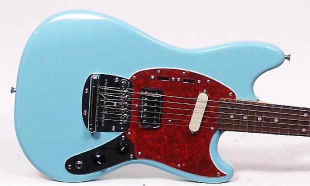 fender kurt cobain mustang sonic blue electric guitar nirvana reverb. Black Bedroom Furniture Sets. Home Design Ideas