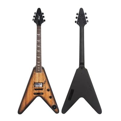 Aiersi Flying V Electric Guitar Model AFV-02 2021 Dark/Light Professionally Setup for sale