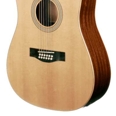 Teton STS100CENT-12 Dreadnought Solid Sitka Spruce Top 12-String Acoustic-Electric Guitar - Natural