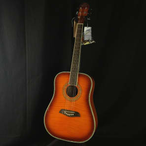 Oscar Schmidt OG1-FYS 3/4 Size Student Dreadnought Flame Yellow Sunburst