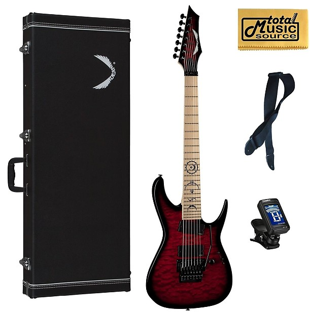 dean rusty cooley 7 string exotic red electric guitar free reverb. Black Bedroom Furniture Sets. Home Design Ideas