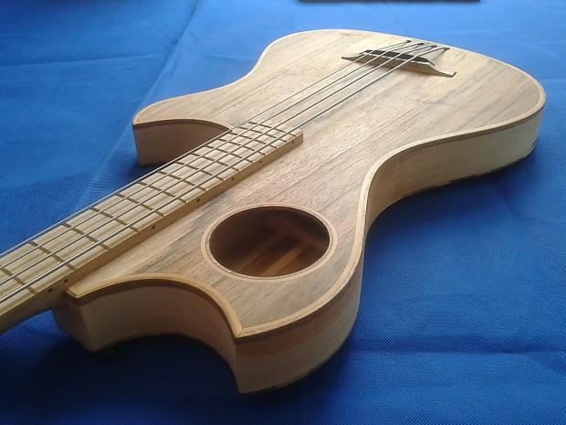 4 String Acoustic Bass Guitar Walnut Hawthorn Maple Reverb