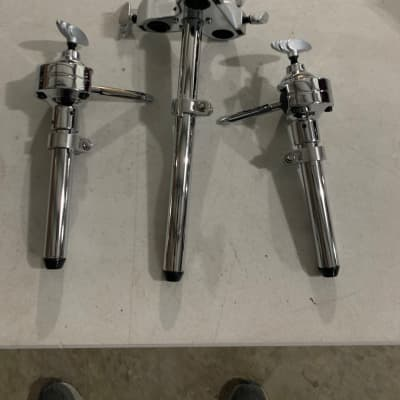"Yamaha Dual tom Mount with 1"" down tube Chrome"
