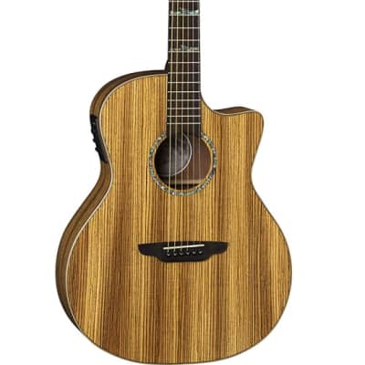 Luna Guitars High Tide Grand Concert Acoustic-Electric - Zebrawood for sale