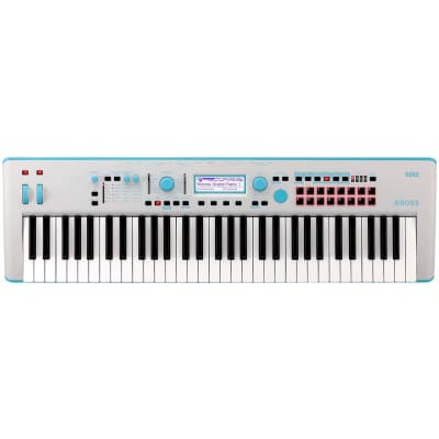 Korg KROSS 2 Keyboard Synthesizer Workstation, 61-Key, Limited Edition Neon Blue