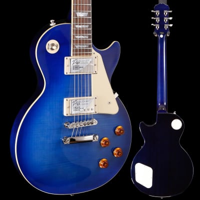 Epiphone Les Paul Standard Plustop Pro, Trans Blue 411 8lbs 15.6oz for sale