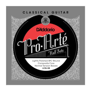 D'Addario LCN-3B Pro-Arte Lightly Polished Silver Plated Copper on Composite Core Classical Guitar Half Set Normal Tension