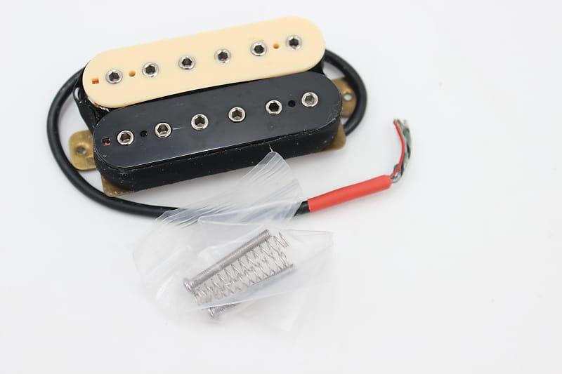 zebra cream black humbucker split coil guitar pickup neck reverb. Black Bedroom Furniture Sets. Home Design Ideas