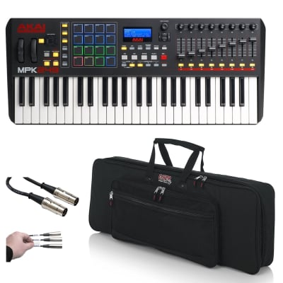 Akai Professional MPK 261 Performance Keyboard Drum Pad Controller + Gator Bag & Cables