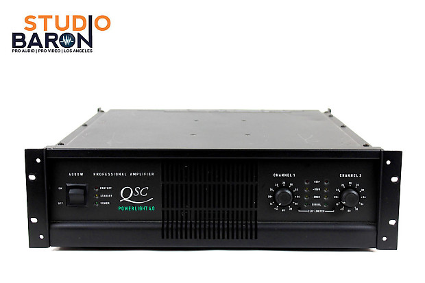 qsc powerlight 4 0 professional power amplifier amp 4000w reverb. Black Bedroom Furniture Sets. Home Design Ideas