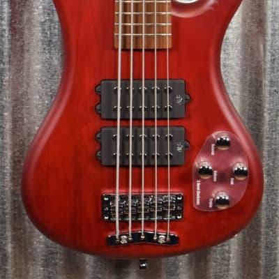 Warwick Rockbass Corvette $$ Double Buck Burgundy 5 String Bass & Bag #1218