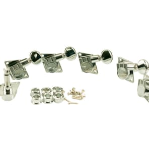 Kluson F Style Tuners for Fender - 6 in Line, Chrome KFT-3805CL