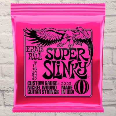 Ernie Ball EB2223 Super Slinky Electric Guitar Strings 9 - 42