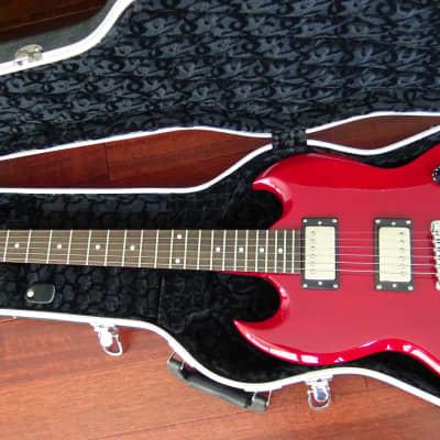S101 Electric Guitar SG style w/ Seymour Duncan '59 model SH-1 Pickups & Hardshell Case for sale