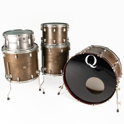 Q Drum Co Cold Rolled Steel Drum Kit w/ Snare (14X7, 14X10, 16X16, 18X16, 26X16) Owned by Ilan Rubin