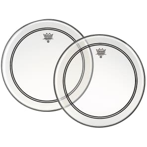 """Remo Powerstroke P3 Clear Top Clear Dot Drum Head 18"""""""