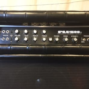 Plush PRB 1000S Amp and Cabinet early 1970's Black Padded for sale