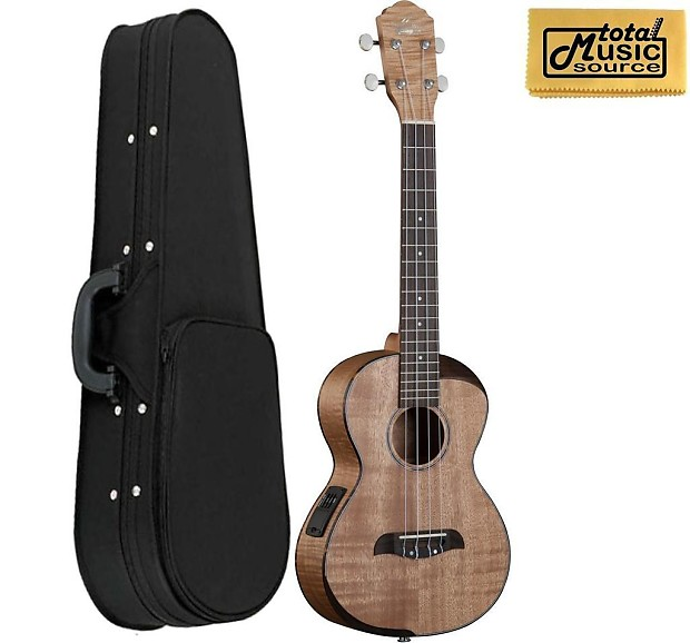 1758345 Oscar Schmidt Ou800te  fort Series Tenor A E Ukulele Flame Maple Top Back Sides W Soft Case on oscar schmidt tenor ukulele case
