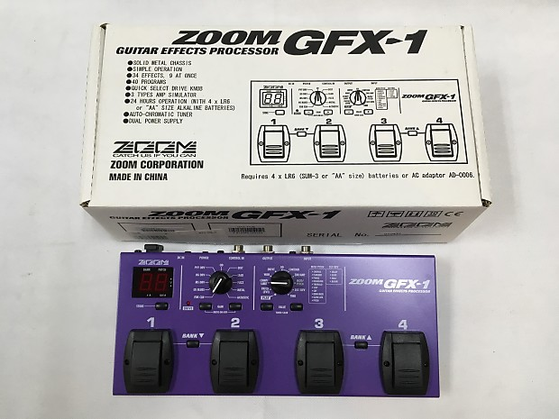 Used Zoom GFX-1 MULTI Guitar Effect Pedal