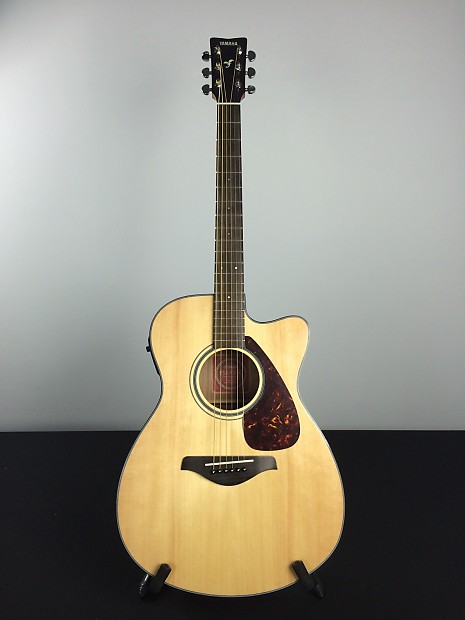 yamaha fsx700sc acoustic electric guitar natural reverb