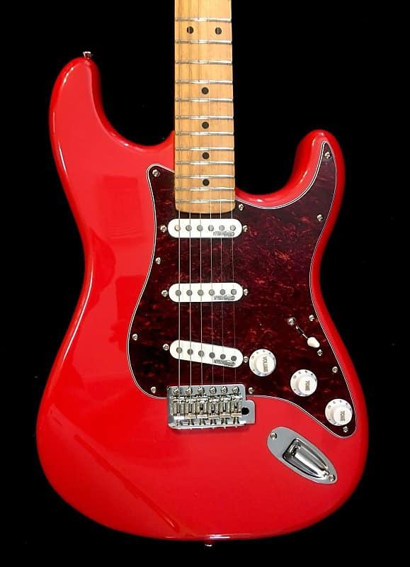 Vintage V6MFR Firenza Red Strat Style Electric Guitar W/Maple Fretboard image