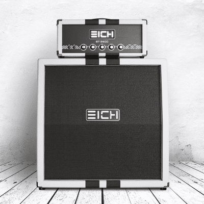 Eich Amplification G112w - 16 Ohm White with black racing stripes