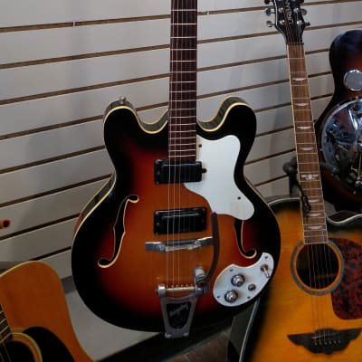 Incredible 1967 Mosrite Celebrity III with Bigsby & hardshell case, a Must Have. for sale