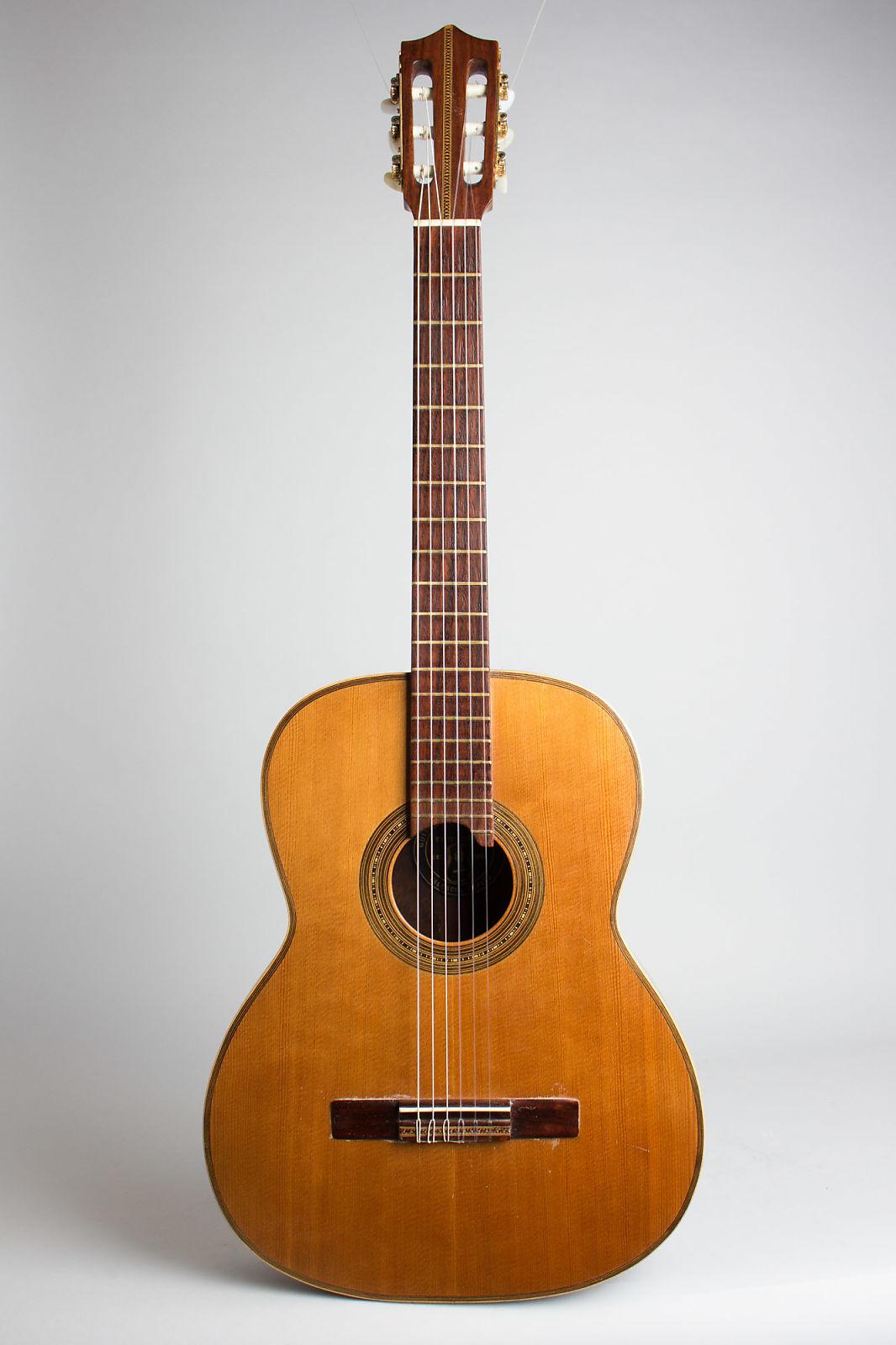 Vicente Tatay  Classical Guitar (1930s), black hard shell case.